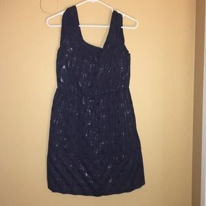 American Eagle Blue polka dot knee length dress